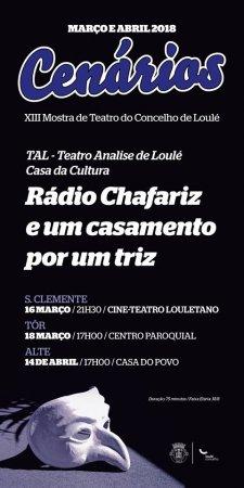cartaz cenários Loulé 2018 - Teatro Casa da Cultura de Loulé