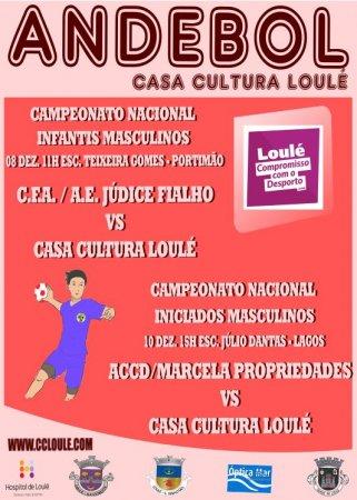 Andebol Casa da Cultura de Loulé 08 e 10 Dezembro 2017