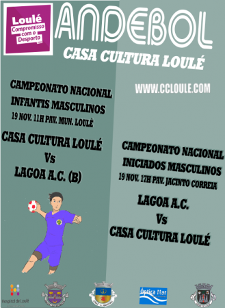 Andebol Casa da Cultura de Loulé 19 Novembro cartaz