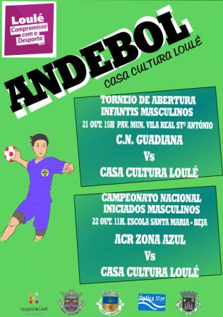 cartaz andebol Casa da Cultura de Loulé 21 e 22 Outubro