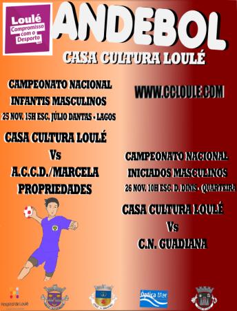 andebol Casa da Cultura de Loulé 25 e 26 Novembro