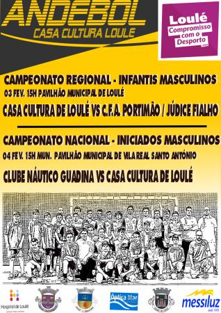 Andebol Casa da Cultura de Loulé 03 e 04 Fevereiro