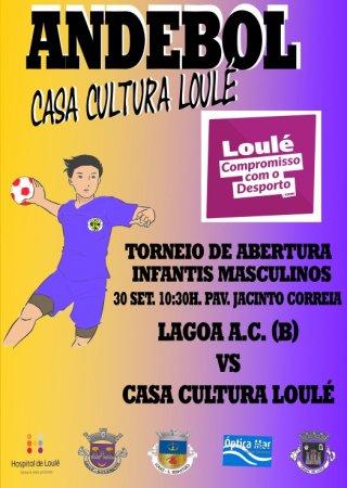cartaz andebol Casa Cultura Loulé 30 setembro