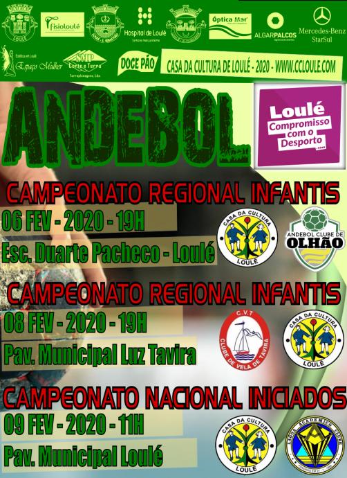 ANDEBOL 6, 8 E 9 FEVEREIRO - Casa da Cultura Loulé