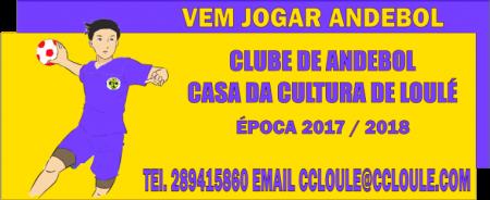 banner andebol CC Loulé época 2017/18