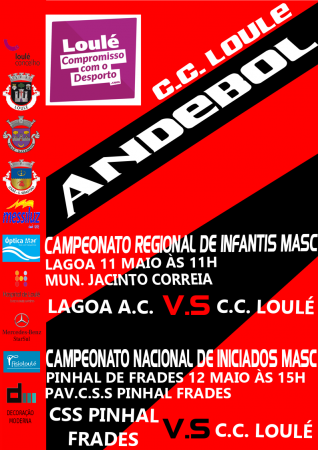 cartaz andebol loule cc loule 11 e 12 Maio