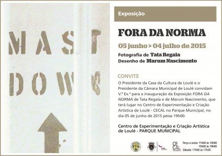 """convite Exposição """"Fora da Norma"""""""
