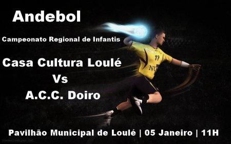CCl Vs ACCD andebol campeonato regional de minis pavilhão municipal de loulé 05 Jan 11H