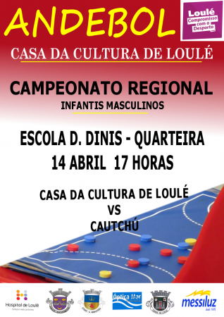 cartaz andebol CCLoulé 14 Abril