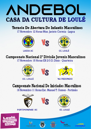 Andebol CC Loulé 17 e 18 Novembro