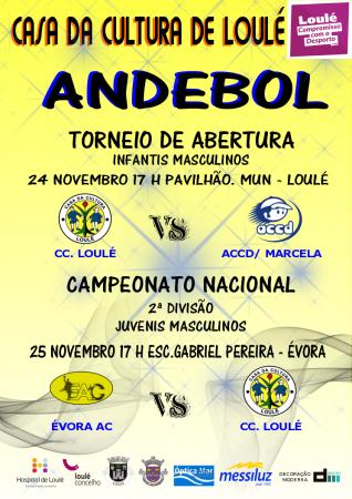 Andebol Casa da Cultura de Loulé 24 e 25 Nov