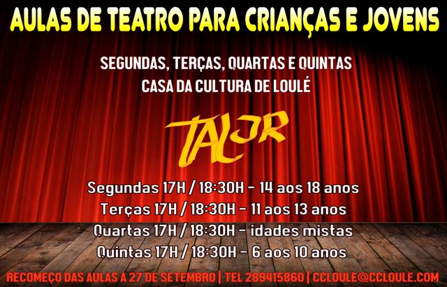 AULAS TEATRO PARA CRIANÇAS - TAL JUNIOR