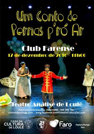 """cartaz - Teatro """"Um Conto de Pernas Pró Ar"""""""