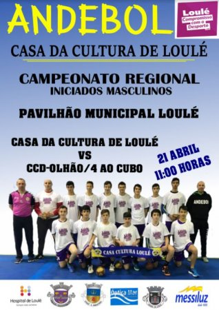 Andebol Casa da Cultura de Loulé 21 Abril 2018