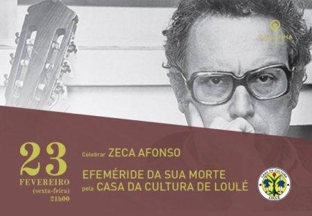 cartaz José afonso no café calcinha pela Casa da Cultura de Loulé
