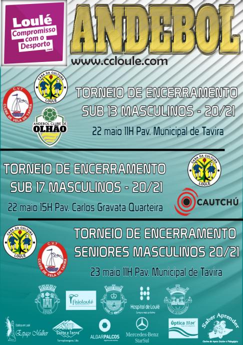 cartaz jogos clube andebol casa da cultura de Loulé 22 e 23 Maio