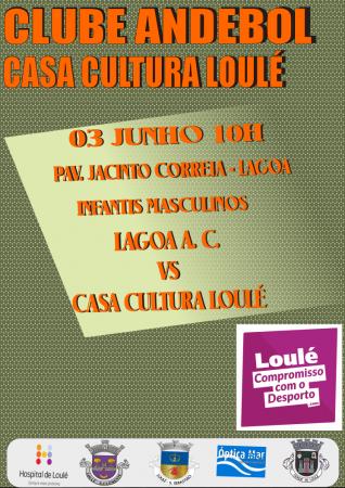 cartaz jogo andebol 3 junho casa da cultura loulé