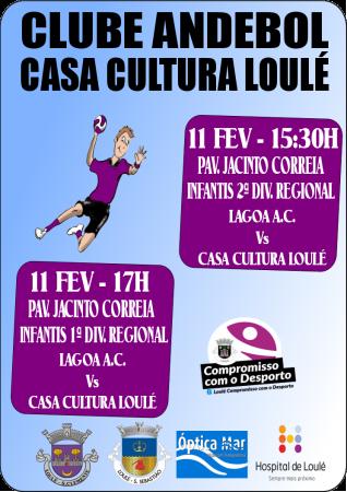 cartaz andebol - casa cultura loulé -11 Fevereiro