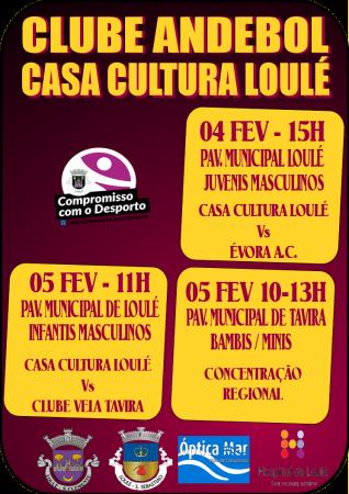 cartaz jogos andebol Casa da Cultura de Loulé 04 e 05 Fev