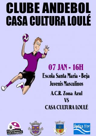 cartaz andebol 07 Jan Casa Cultura Loulé