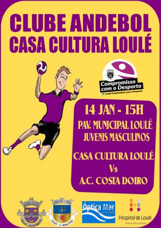 cartaz 14 Andebol Casa Cultura Loulé