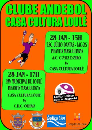 cartaz jogos andebol casa da cultura de loulé 28 Jan 2017