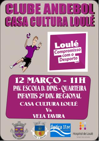 cartaz andebol 12 Março Casa Cultura Loulé