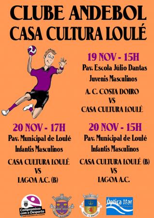 cartaz andebol casa da cultura Loulé 19 e 20 Novembro