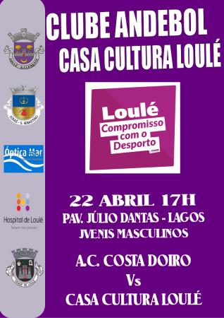 cartaz andebol 22 Abril CCL