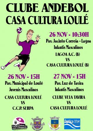 cartaz jogos andebol casa da cultura 26 e 27 Novembro 2016