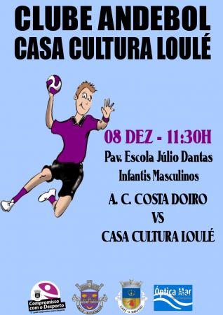 cartaz jogo andebol Casa da Cultura Loulé 8 dezembro 2016