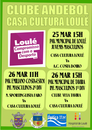 Andebol Casa Cultura Loulé 25 e 26 Março 2017