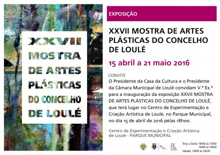 Convite inauguração Mostra de Artes Plásticas 15 Abril 18H Edf. CECAL