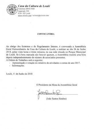 convocatória Assembleia geral ccl