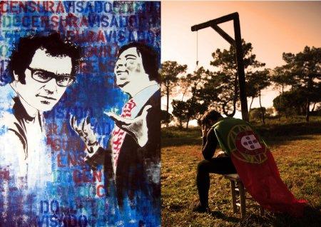 imagens de dois trabalhos a expor