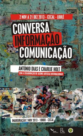 """cartaz da exposição """"conversa, informação, comunicação"""""""