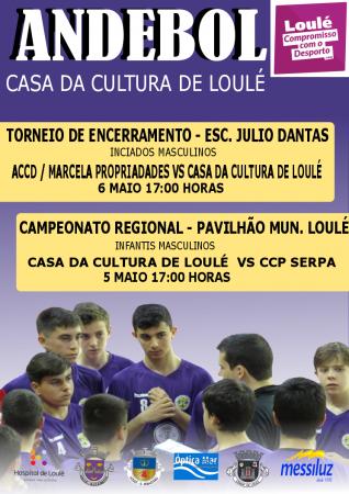 cartaz cc loulé andebol 05 e 06 Maio
