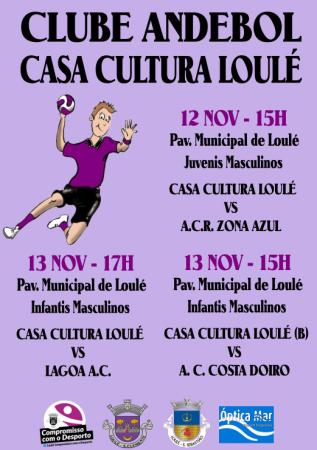 cartaz andebol Casa da Cultura de Loulé 12 e 13 Nov