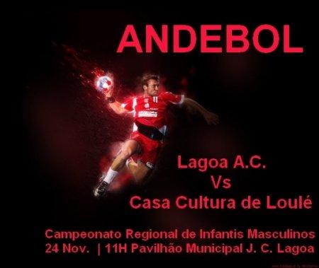 Andebol Lagoa Vs Casa da Cultura de Loulé 24 Nov 11h em lagoa